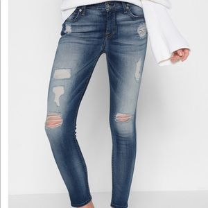 7 for all mankind ankle skinny destroyed jeans